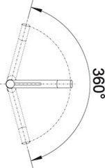 Blanco ALTA Compact (хром) - схема