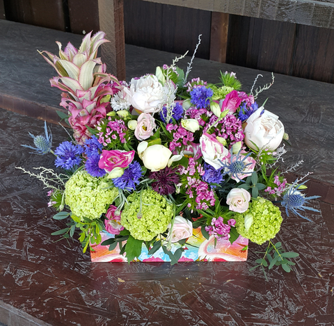 Ящик с цветами Пятый