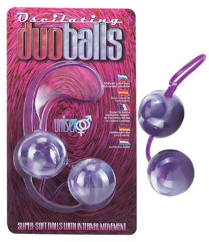Фиолетово-белые вагинальные шарики со смещенным центром тяжести - Seven Creations 2K839MLV BCD GP