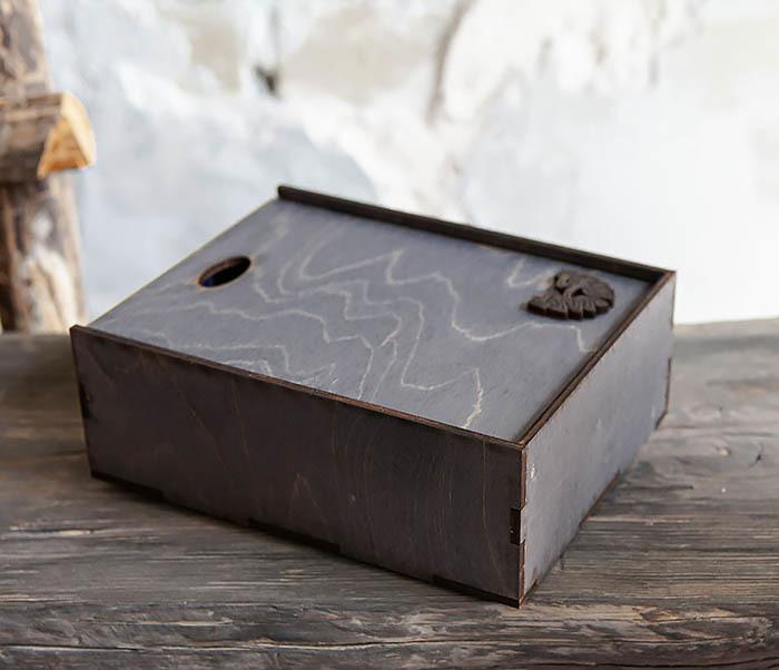 BOX231-1 Деревянная фирменная коробка формата А6 (19*15*6 см) фото 07
