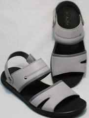 Модные босоножки натуральная кожа мужские Ikoc 3294-3 Gray.