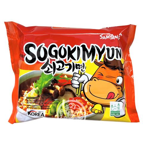 Лапша б/п Sogokimyun со вкусом говядины 120г SAMYANG Корея