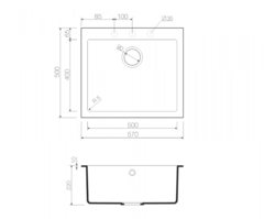 Схема Omoikiri Bosen 57-WH