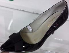 Черные туфли лодочки на каблуке. Лаковые лодочки туфли женские кожаные El Passo Black.