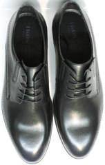 Повседневные туфли мужские классические Ikos 3416-4 Dark Blue.