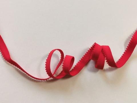 _Отделочная резинка с фестонами, 10мм, красный (алый) (Арт: OTR635/10-100), м