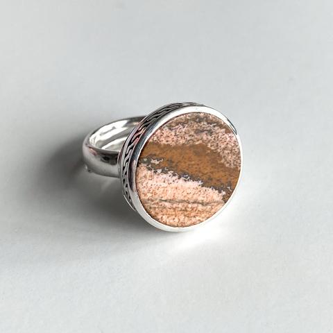 Кольцо с секретом DIONYSUS - Охровая яшма