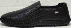 Черные слипоны мужские туфли спортивного стиля Ridge Z-291-80 All Black.