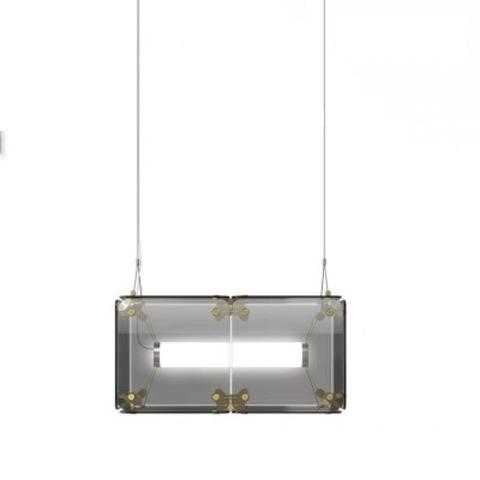 Подвесной светильник копия Hyperqube by Felix Monza (2 плафона, дымчатый)
