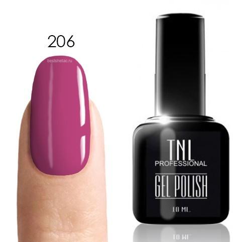 TNL Classic TNL, Гель-лак № 206 - кораллово-розовый (10 мл) 206.jpg