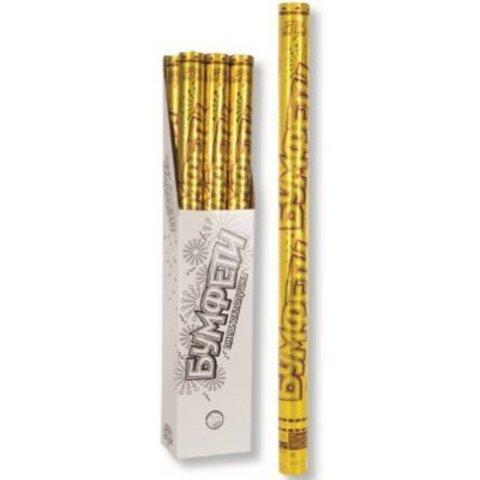 Хлопушка Бумфети 80см фольг конф золото