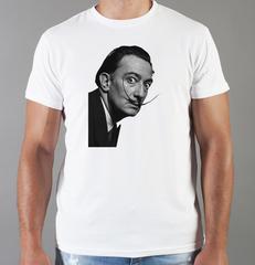 Футболка с принтом  Сальвадор Дали  (Salvador Dalí) белая 005