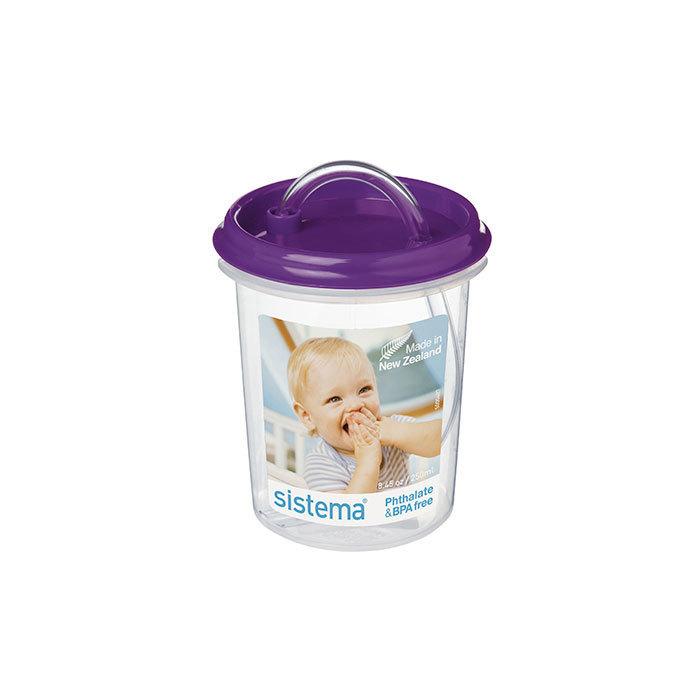 "Бутылочка-поильник с трубочкой Sistema""Hydrate"" 250 мл, цвет Фиолетовый"