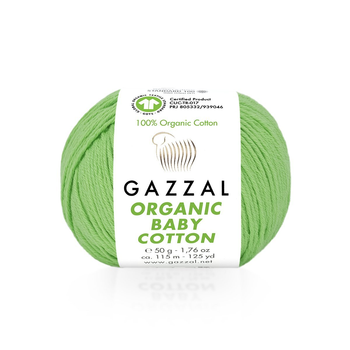 Пряжа Gazzal Organic Baby Cotton 421 яблоко