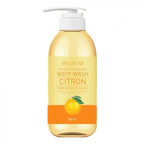 Welcos Around Me Natural Perfume Vita Body Wash Yuja гель для душа с экстрактом Юдзу