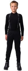 Детские лыжные разминочные брюки NordSki Premium 21-22 Black