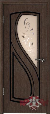 Дверь 10ДО4 (венге, остекленная шпонированная), фабрика Владимирская фабрика дверей