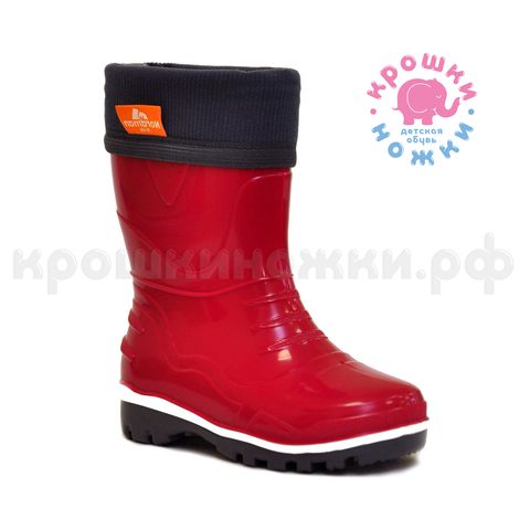 Сапоги Nordman Step с флисовым утеплителем красные