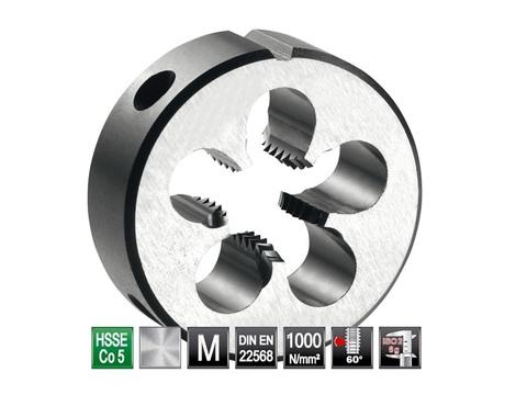 Плашка М12x1,5 DIN EN22568 6g HSSE52(HSS-Co5) 38х10мм S4 Bucovice(СzTool) 290121
