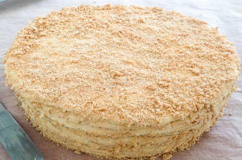Внешний вид торта без глютена «Наполеон»