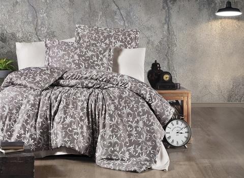 Комплект постельного белья DO&CO Сатин DELUX Семейный TAMMY цвет коричневый