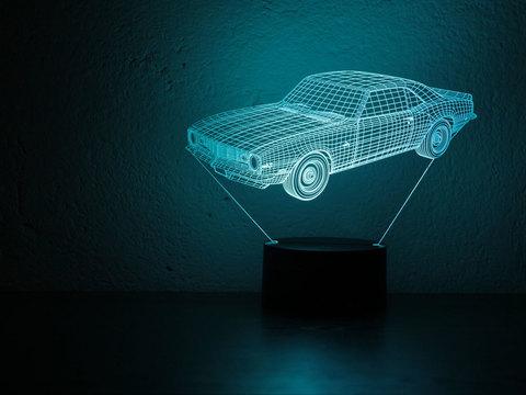 3D светильник Шевроле