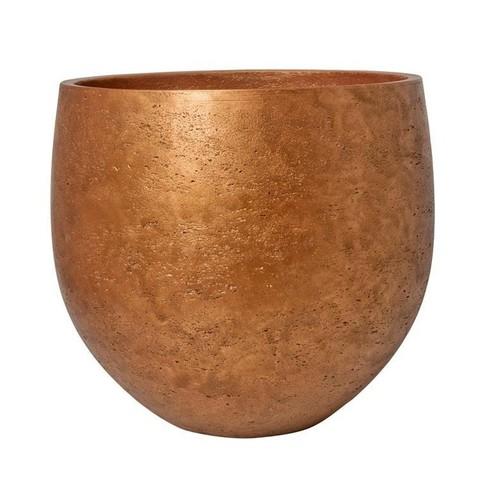 Кашпо Eco-Line Mini kevan S metalic copper (керамика), D18xH15cм медный