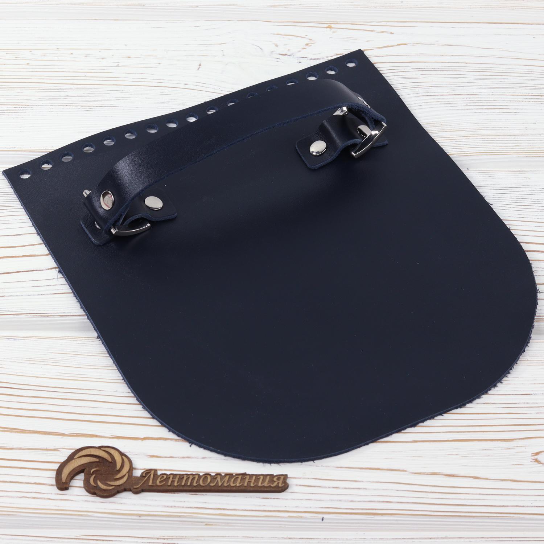 """Вся фурнитура Клапан для сумочки с ручкой кожаный """"Ночное небо"""" IMG_5796.jpg"""