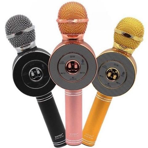 Микрофон-караоке WS-668 (black)