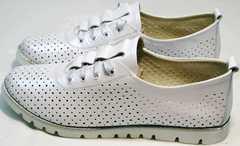 Летние сникерсы повседневные женские кроссовки Mi Lord 2007 White-Pearl.