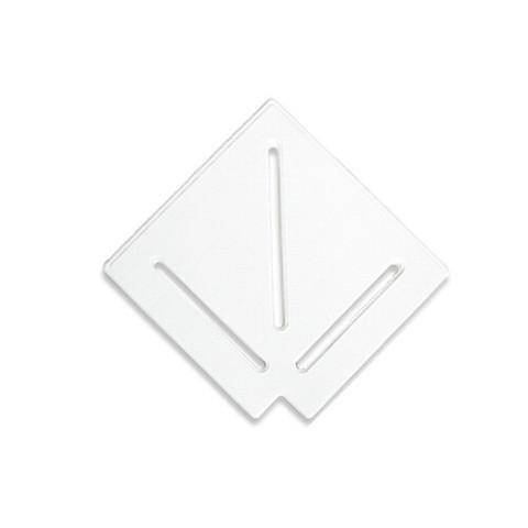 Угловой элемент AquaViva DK-20-1 Matt для переливной решетки 90° 195/25 мм (белый) / 22743