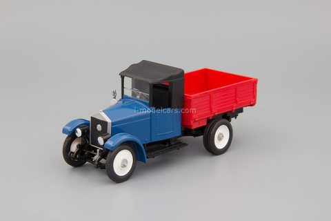 AMO-F15 flatbed truck made in the USSR blue-red Elecon 1:43