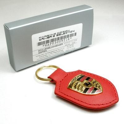 Брелок для ключей с гербом Porsche Crest Keyring, Red