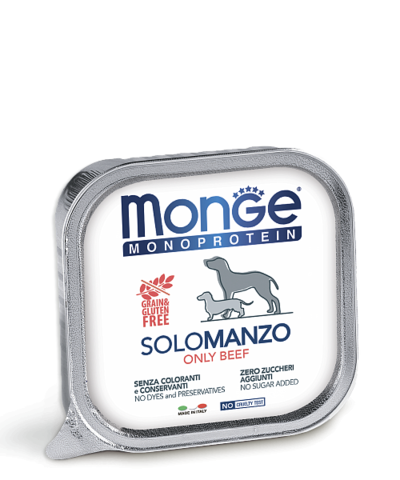 Monge Monoprotein Dog All Breeds Solo Manzo Only Beef