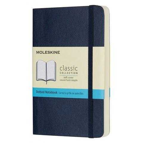 Блокнот Moleskine CLASSIC SOFT QP614B20 Pocket 90x140мм 192стр. пунктир мягкая обложка синий сапфир