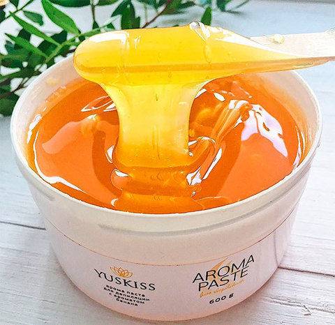 Цветная арома-паста для шугаринга «Банан» TM YUSKISS 200 g SOFT пробник