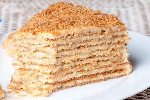 Традиционный торт «Наполеон», изготовленный по безглютеновой рецептуре