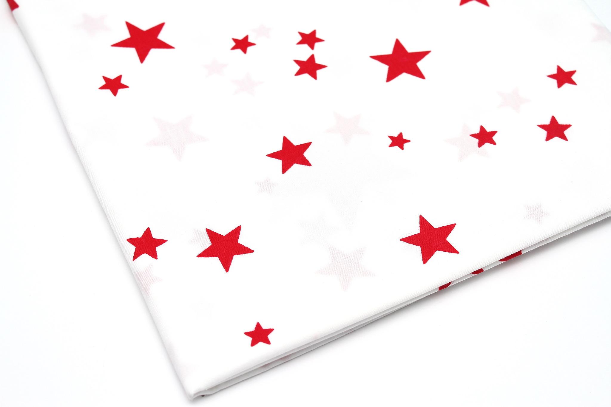 Звезды красные на белом