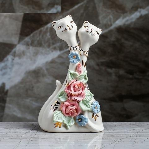 влюбленные коты статуэтка