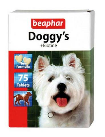 12507 Беафар Витамин Догги Биотин д/собак 75таб.*12*144