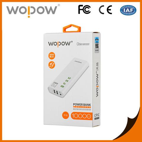 Оригинальный внешний аккумулятор Wopow P10 10000 mAh