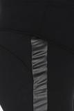 Утепленные леггинсы для беременных 09178 черный