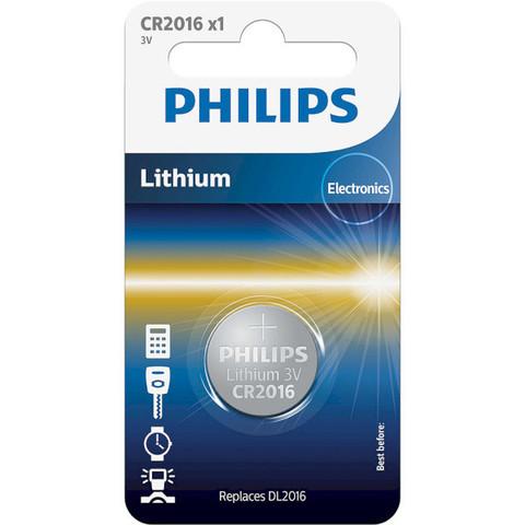 Батарейки литиевые Philips CR 2016/1bl