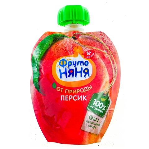 Пюре ФРУТО НЯНЯ Персик Фруктовый пауч 90 г РОССИЯ