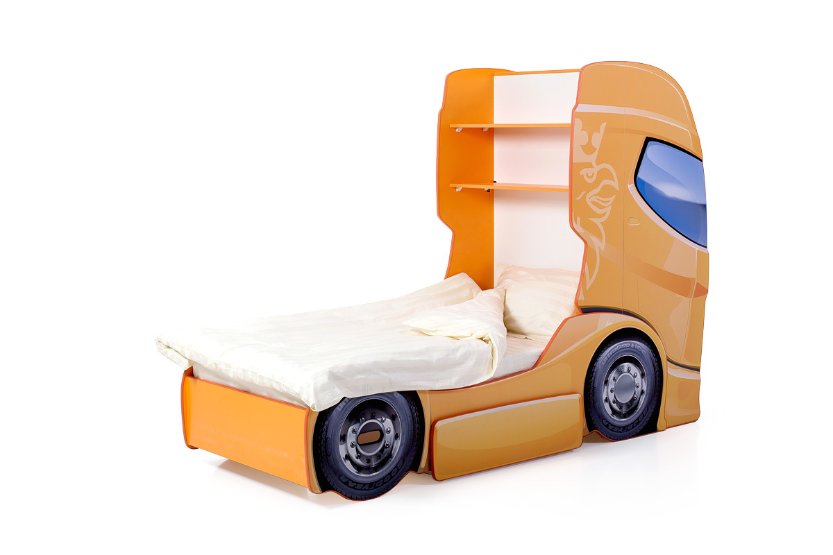 """Кровать-грузовик """"Скания+1"""" манго"""