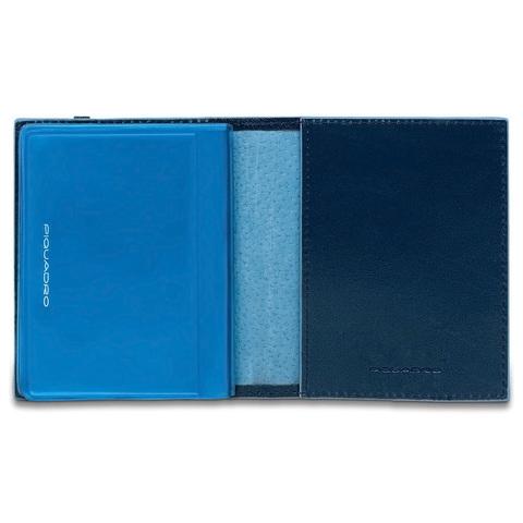 Чехол для кредитных/визитных карт Piquadro Blue Square, синий, 8,8x10,5x1,2 см