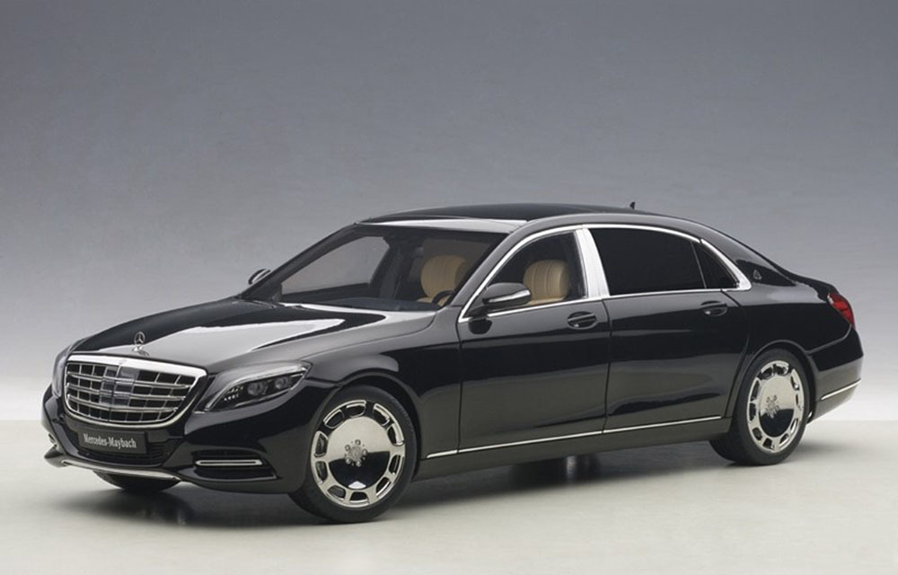 Коллекционная модель Mercedes-Benz X222 S600 Maybach S-Class SWB 2016 Black