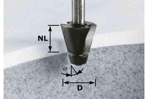 Фреза для снятия фаски HW D33,54/15° ss S12