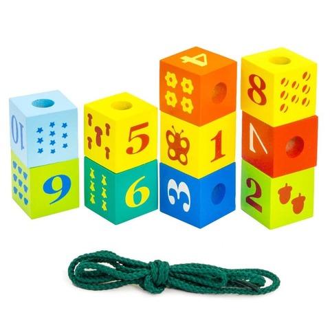 Шнуровка Alatoys Кубики с печатью ШН35