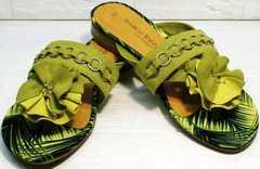 Стильные шлепанцы женские модные летние босоножки Marco Tozzi 2-27104-20 Green.